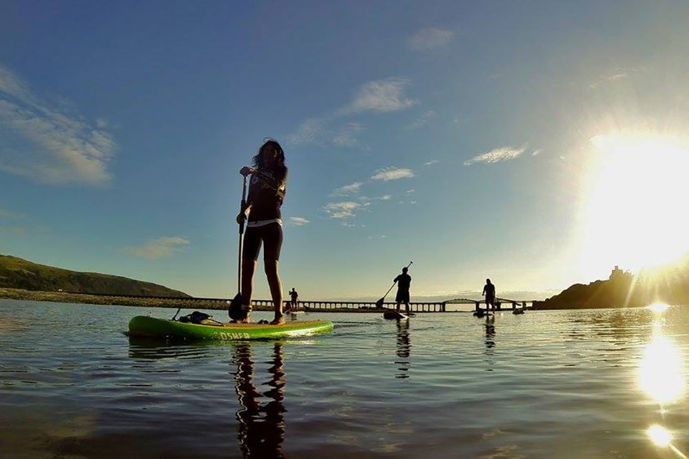 campervan adventures paddle boarding