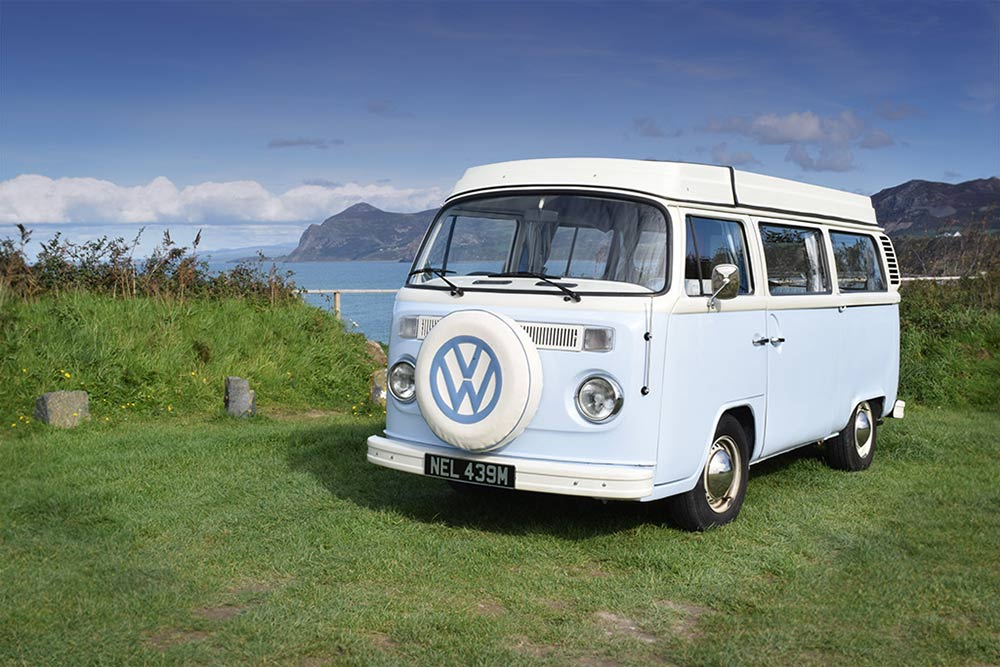 campervan Nell on the coastal way