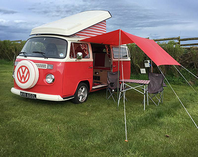 Find campsites in Snowdonia and North Wales for when you hire a classic vw campervan from Snowdonia Classic Campers