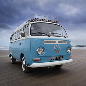 Lolal a 1970's classic campervan for hire in North Wales from Snowdonia Classic Campers