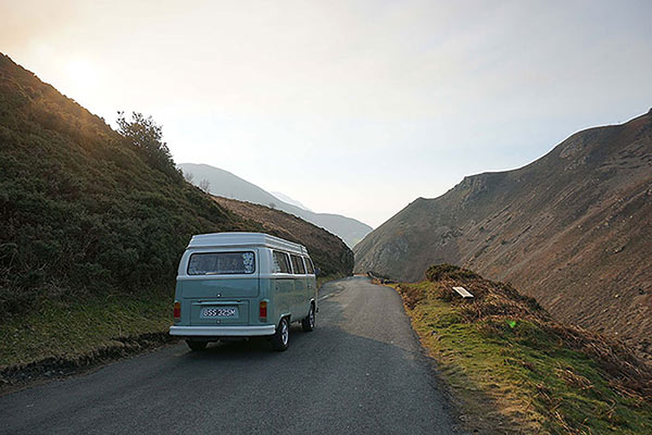 our campervan Bessie at Sychnant Pass