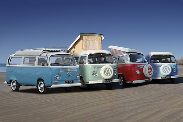 Our vintage VW campervans on Black Rock Sands
